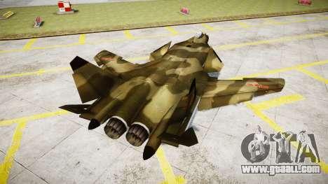 Su-47 Berkut forest for GTA 4 back left view