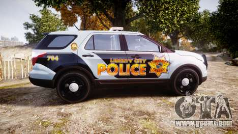Ford Explorer Police Interceptor [ELS] marked for GTA 4 left view