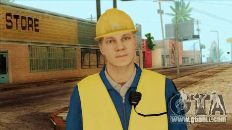 Takedown Redsabre NPC Shipworker v1 for GTA San Andreas third screenshot