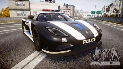 Koenigsegg Agera 2013 Police [EPM] v1.1 PJ3 for GTA 4