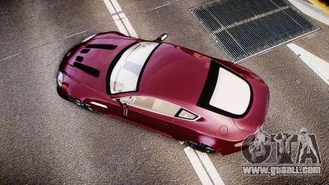 Aston Martin V12 Vantage 2010 for GTA 4 right view