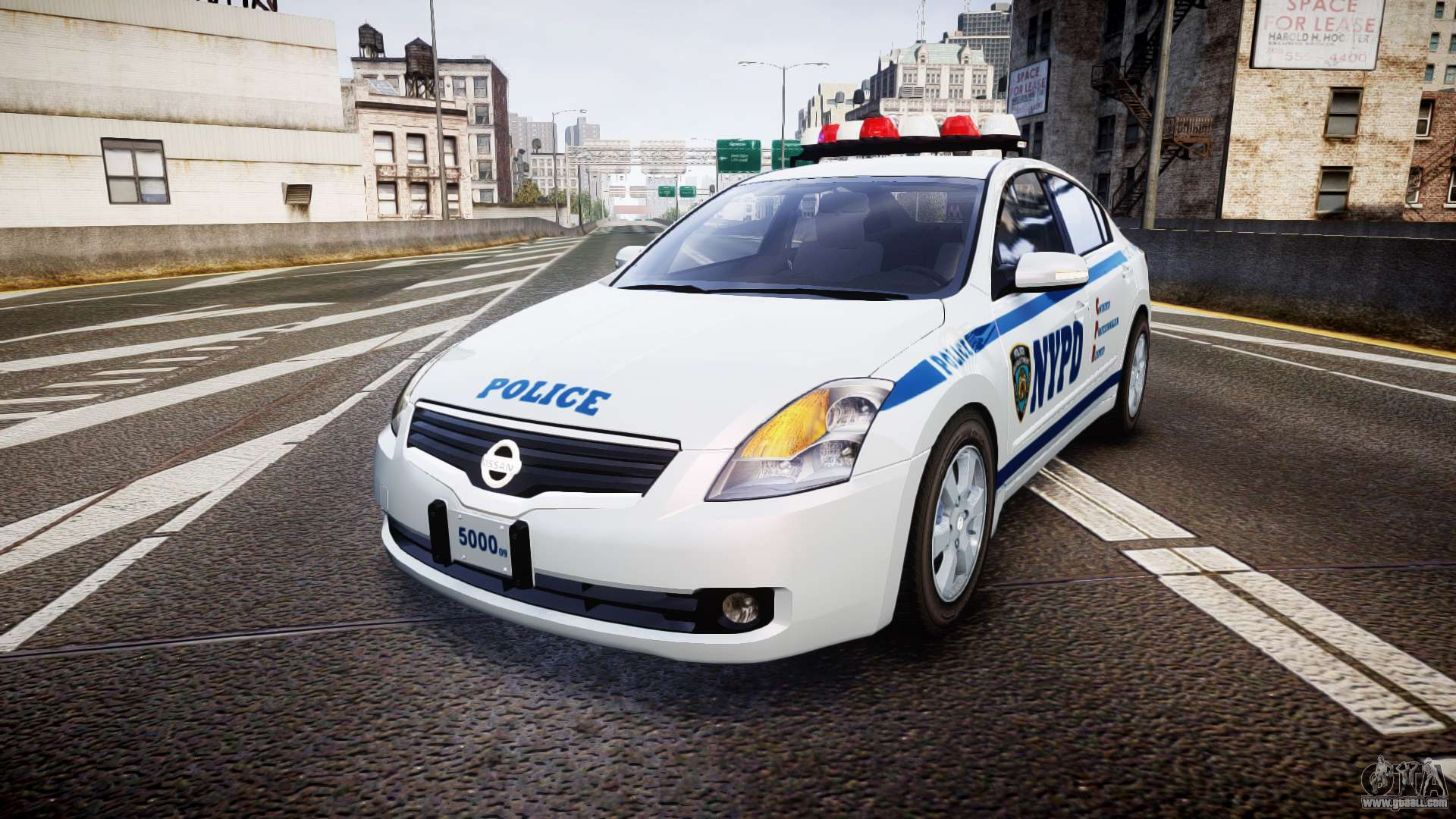 Nissan Altima Hybrid Nypd For Gta 4