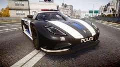 Koenigsegg Agera 2013 Police [EPM] v1.1 PJ3