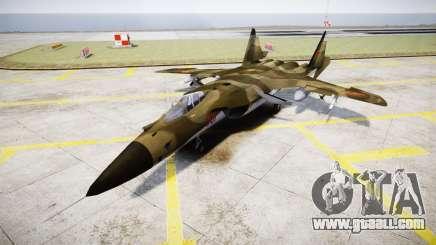 Su-47 Berkut forest for GTA 4