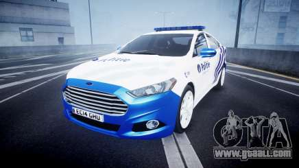 Ford Fusion 2014 Belgian Police [ELS] for GTA 4