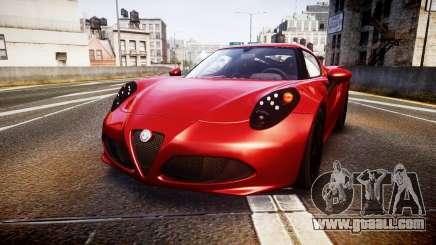 Alfa Romeo 4C 2014 for GTA 4