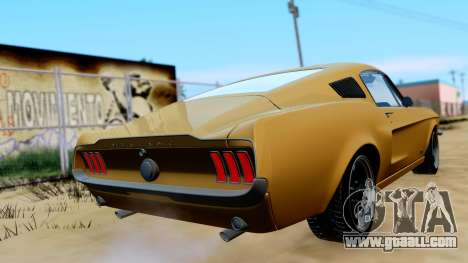 Shelby Mustang GT 1967 for GTA San Andreas left view