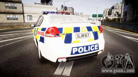 Holden VE Commodore SS Police HWP [ELS] for GTA 4 back left view