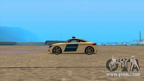 Audi TT RS 2011 Hungarian Police for GTA San Andreas left view