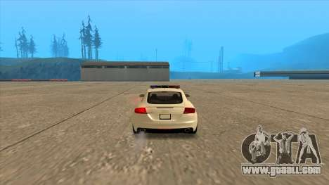 Audi TT RS 2011 Hungarian Police for GTA San Andreas back left view