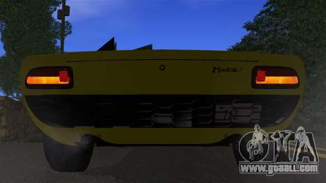 Lamborghini Miura P400 1967 for GTA San Andreas side view