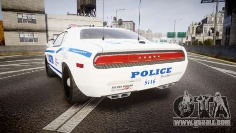 Dodge Challenger LCPD [ELS] for GTA 4 back left view
