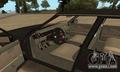 Renault 9 TSE 1992 for GTA San Andreas upper view