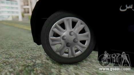 SAIPA Tiba Police v1 for GTA San Andreas back left view