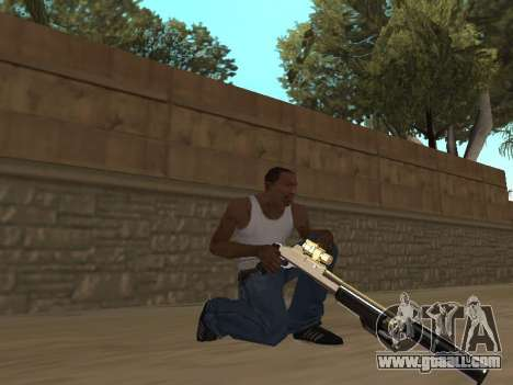 Chameleon Weapon Pack for GTA San Andreas second screenshot