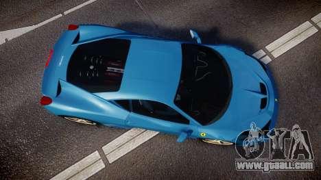 Ferrari 458 Speciale 2014 for GTA 4 right view