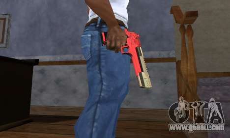 Black and Red Deagle for GTA San Andreas