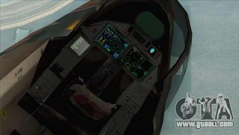 Sukhoi SU-35BM Mobius Squadron for GTA San Andreas back view