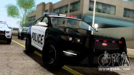 GTA 5 Vapid Police Interceptor v2 IVF for GTA San Andreas back left view