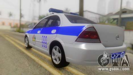 Nissan Almera Iraqi Police for GTA San Andreas left view
