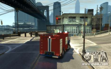 MAZ 533702 the Ministry of emergency situations  for GTA 4 back left view