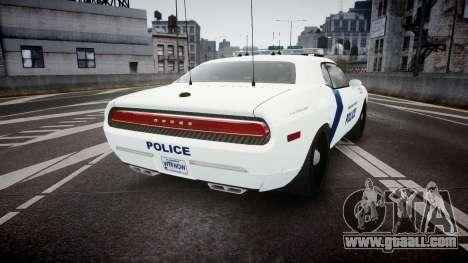 Dodge Challenger Homeland Security [ELS] for GTA 4 back left view