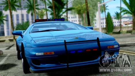 Lotus Esprit S4 V8 1998 Police Edition for GTA San Andreas right view