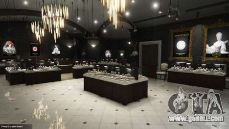 The robbery of a jewelry store v0.2 for GTA 5