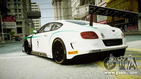 Bentley Continental GT3 2014 for GTA 4 left view