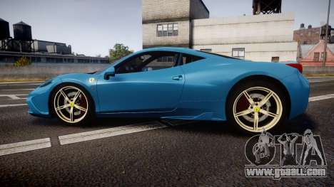 Ferrari 458 Speciale 2014 for GTA 4 left view