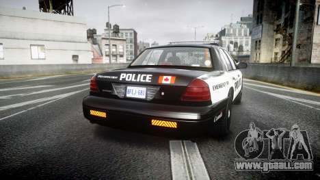 Ford Crown Victoria Alderney Police for GTA 4 back left view