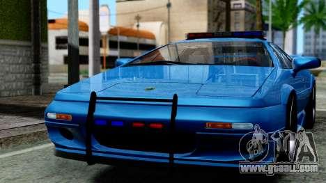 Lotus Esprit S4 V8 1998 Police Edition for GTA San Andreas