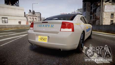 Dodge Charger Alaska State Trooper [ELS] for GTA 4 back left view
