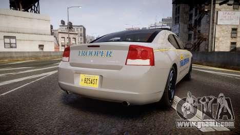 Dodge Charger Alaska State Trooper [ELS] for GTA 4 back left view