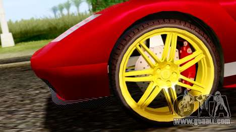 Pegassi Infernus Cento Miglia for GTA San Andreas back left view