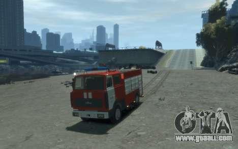 MAZ 533702 Fire Lipetsk for GTA 4 back left view