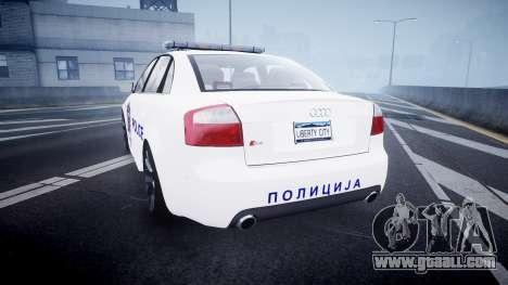 Audi S4 Serbian Police [ELS] for GTA 4 back left view