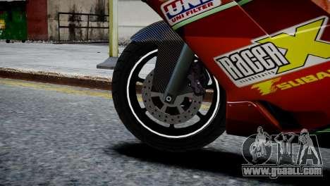 Bike Bati 2 HD Skin 1 for GTA 4 back left view