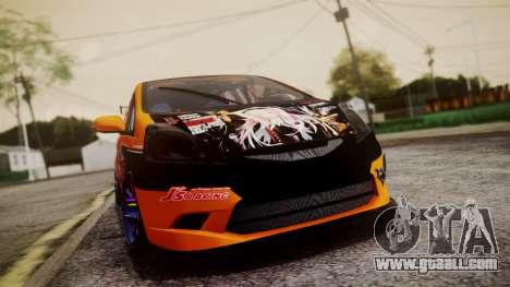 Honda Fit Street Modify Inori Yuzuriha Itasha for GTA San Andreas back view