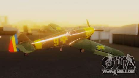 Messerschmitt Bf-109 E3 for GTA San Andreas left view