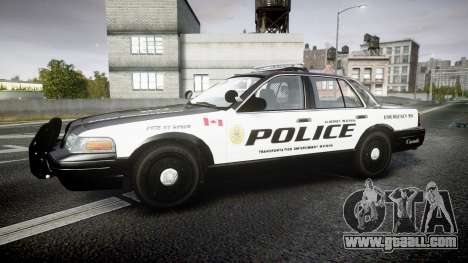 Ford Crown Victoria Alderney Police for GTA 4 left view