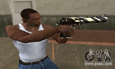 Gold Lines Deagle for GTA San Andreas second screenshot
