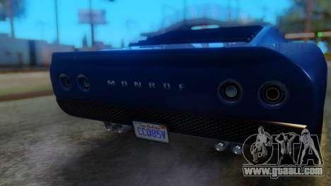 GTA 5 Pegassi Monroe IVF for GTA San Andreas back view
