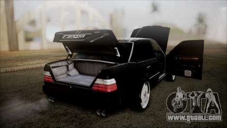 Mercedes-Benz W124 E500 for GTA San Andreas inner view