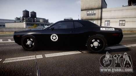 Dodge Challenger Marshal Police [ELS] for GTA 4 left view