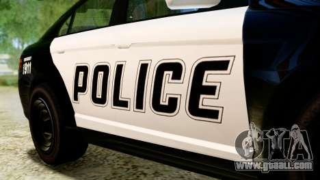 GTA 5 Vapid Police Interceptor v2 IVF for GTA San Andreas back view
