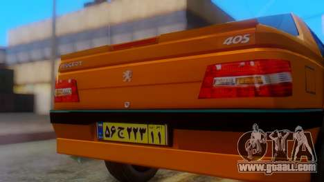 Peugeot 405 Slx Taxi for GTA San Andreas back view