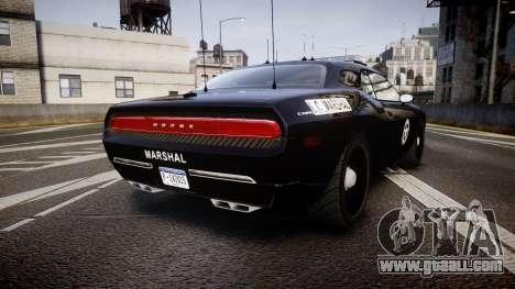 Dodge Challenger Marshal Police [ELS] for GTA 4 back left view