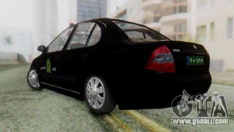 SAIPA Tiba Police v1 for GTA San Andreas left view