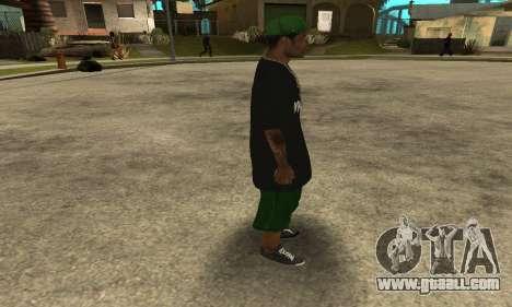Groove St. Nigga Skin The Third for GTA San Andreas forth screenshot